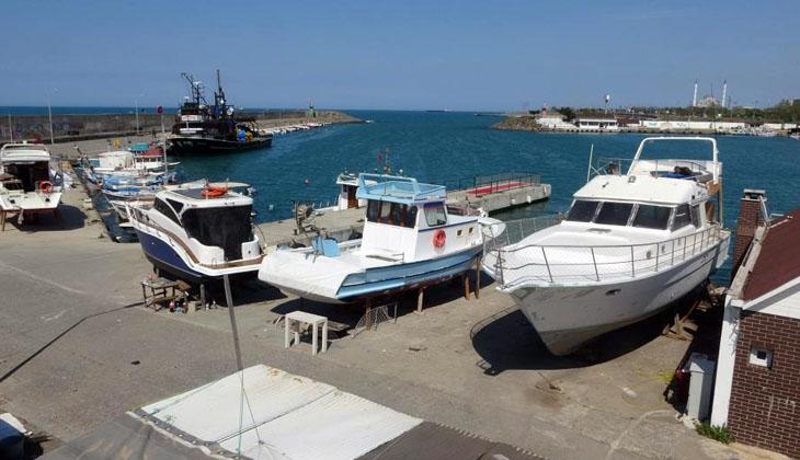 Trabzon'da yatlar ve tekneler yaz sezonuna hazırlanıyor