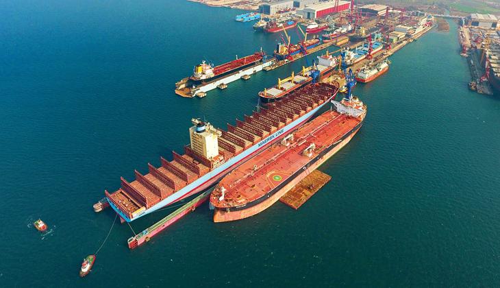 Türk tersaneleri 2020 yılında 1.500 gemiye bakım yaptı