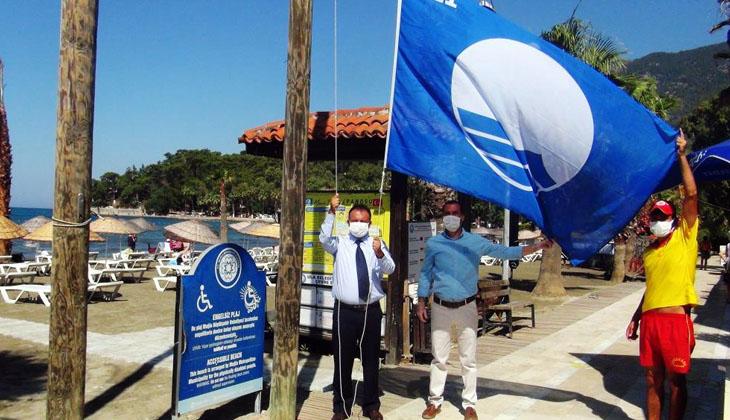 Ula'nın Akyaka sahili bu yıl mavi bayrak almaya hak kazandı