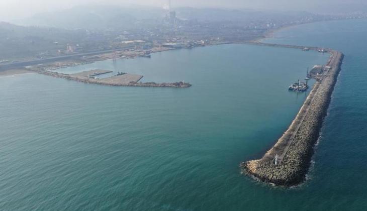 Ünye Limanı'nda büyütme çalışmaları devam ediyor