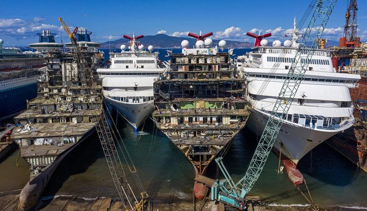 Covid-19 nedeniyle kriz yaşayan kruvaziyer şirketleri gemilerini Türkiye'de geri dönüştürüyor