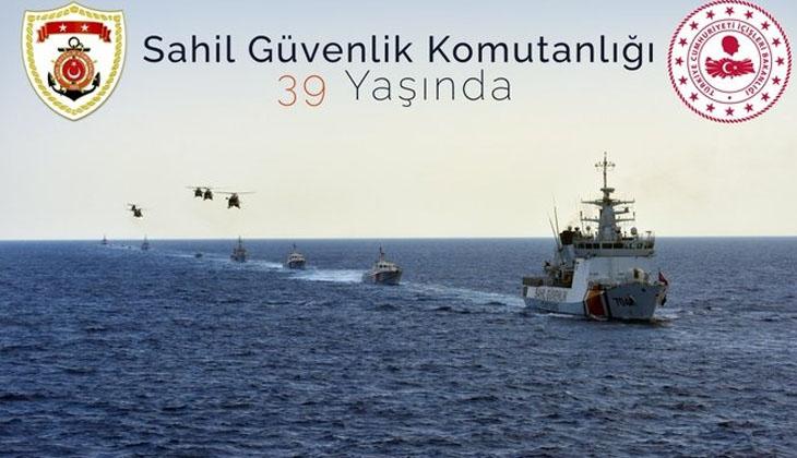 İçişleri Bakanı Soylu, Sahil Güvenlik Komutanlığı'nın 39. kuruluş yıl dönümü dolayısıyla bir mesaj yayımladı