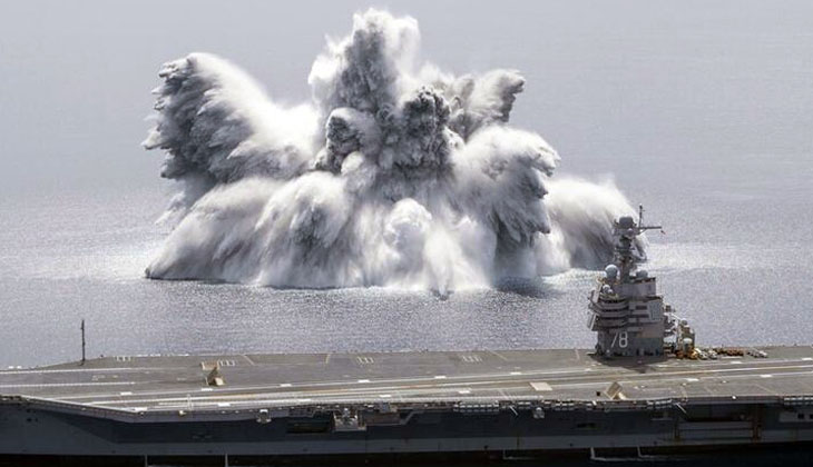 Okyanusta deprem etkisi yaratan patlama!